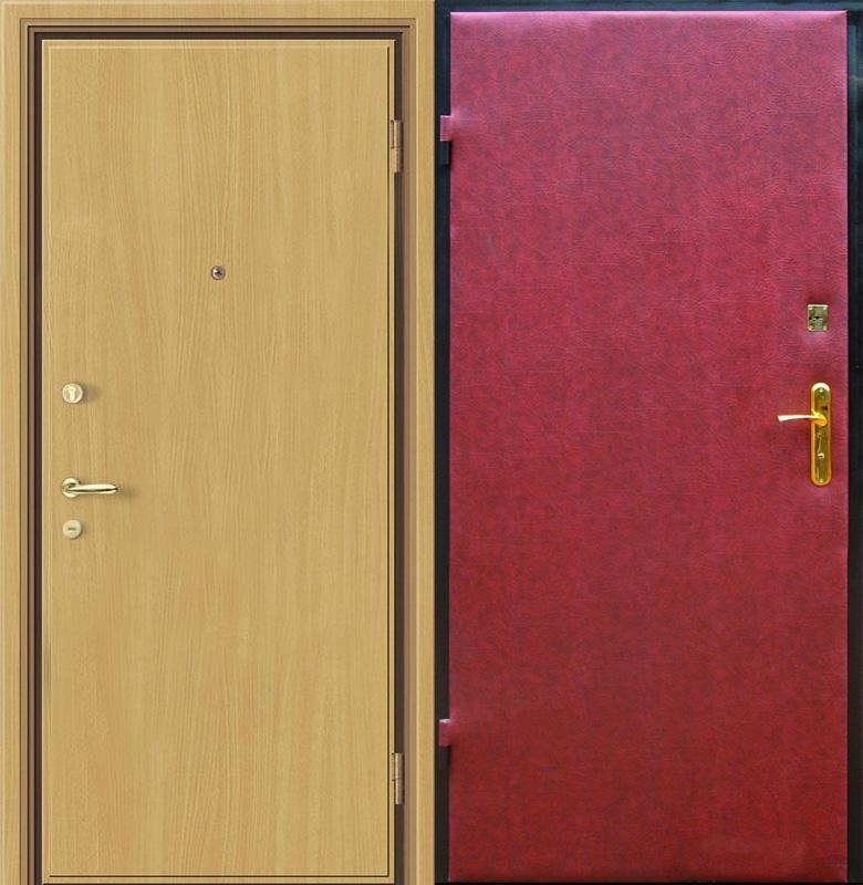 образцы металлических дверей с отделкой из пленки и кожи