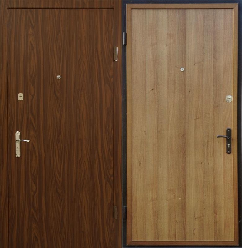 отделка металлической двери ламинатом